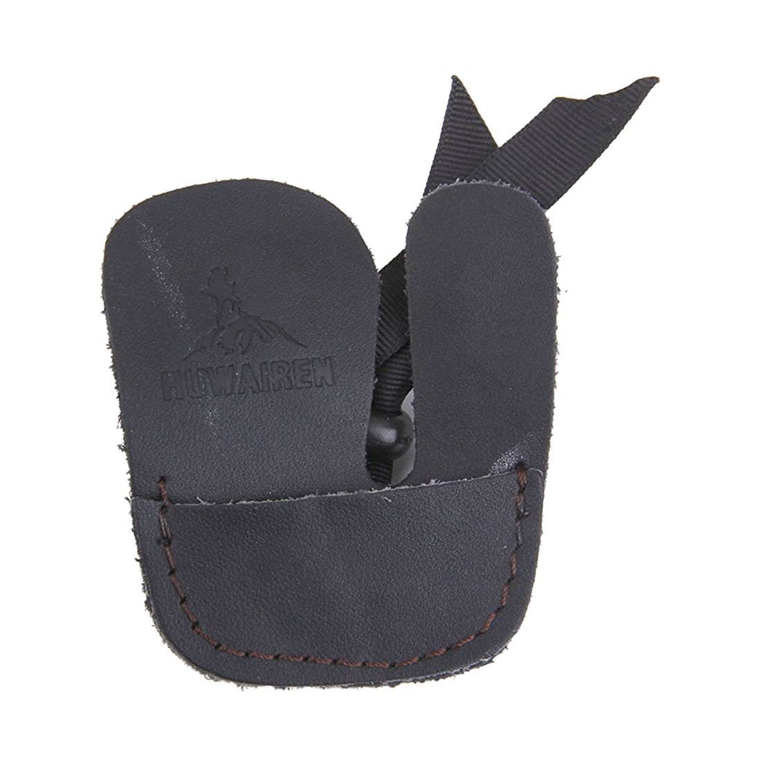 SODIAL(R) Protective Finger Tab Shooting Archery Glove Black