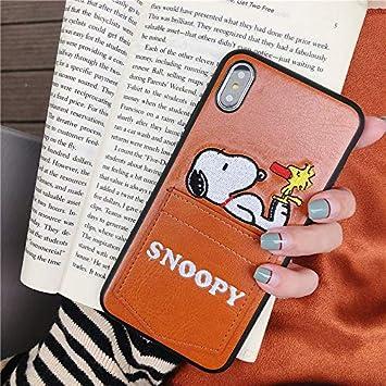 0f1e20491e スヌーピー iphoneケース ポケット レザー iPhoneケース iphone8 ケース スヌーピー スヌーピー 携帯ケース iphone xs  ケース