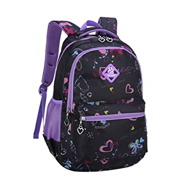Amazon.com | Tisiao Girls Lightweight Backpack Kids Colorful Book ...