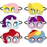 Girls Birthday Party Favors Felt Masks Novelty Toys Girls Birthday Gifts for My Little Pony Party Supplies (6 PCs)