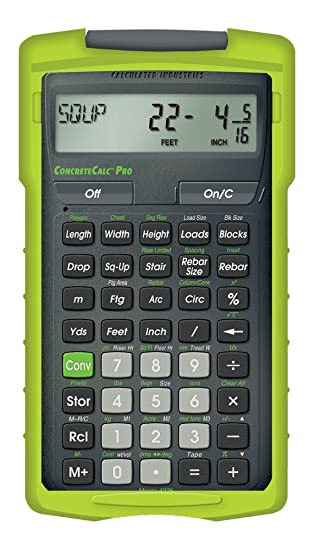 Amazon.com: Calculated Industries ConcreteCalc Pro 4225 Advanced ...Calculated Industries ConcreteCalc Pro 4225 Advanced Yard, Feet, Inch, and Fraction Concrete Calculator