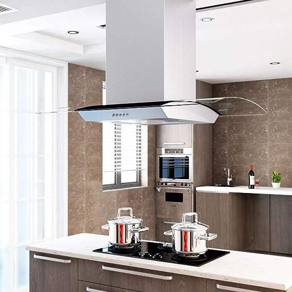 vidaXL Campana Extractora de Techo 90cm Acero Inoxidable 756m³/h LED Cocina: Amazon.es: Grandes electrodomésticos