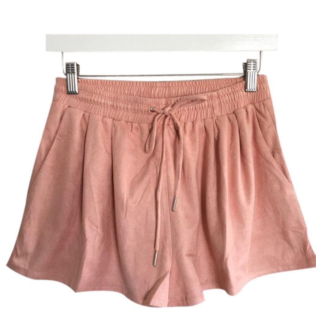 Sunward(TM) Women Loose Wide Leg Cashmere Shorts YHL60613182