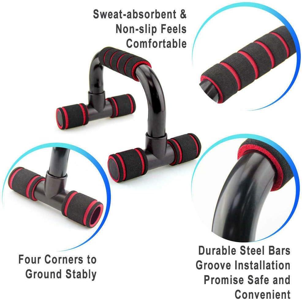 Home Gym Esercizio Allenarsi Formazione Supporto Push-up Stand per Il Tuo Formazione Muscolare Maniglia di Schiuma Antiscivolo FOOING Maniglie per Flessioni Push Up Bars Stand