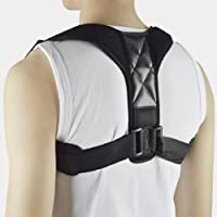 Corrector de postura - Corrección de la postura de espalda para mujeres, hombres y adolescentes Alivio del dolor de hombros, cuello Ajustable y cómodo dispositivo de soporte para clavícula de la parte superior de la espalda APROBADO POR LA FDA