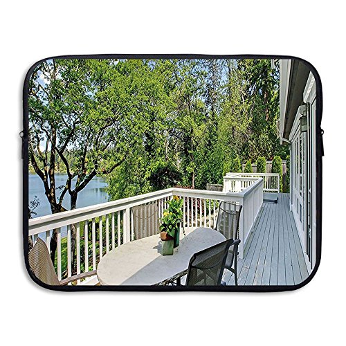 Cheap  XINSHOU Home Patio Balcony With Peaceful Woods In Clear Sunny Sky Photo..
