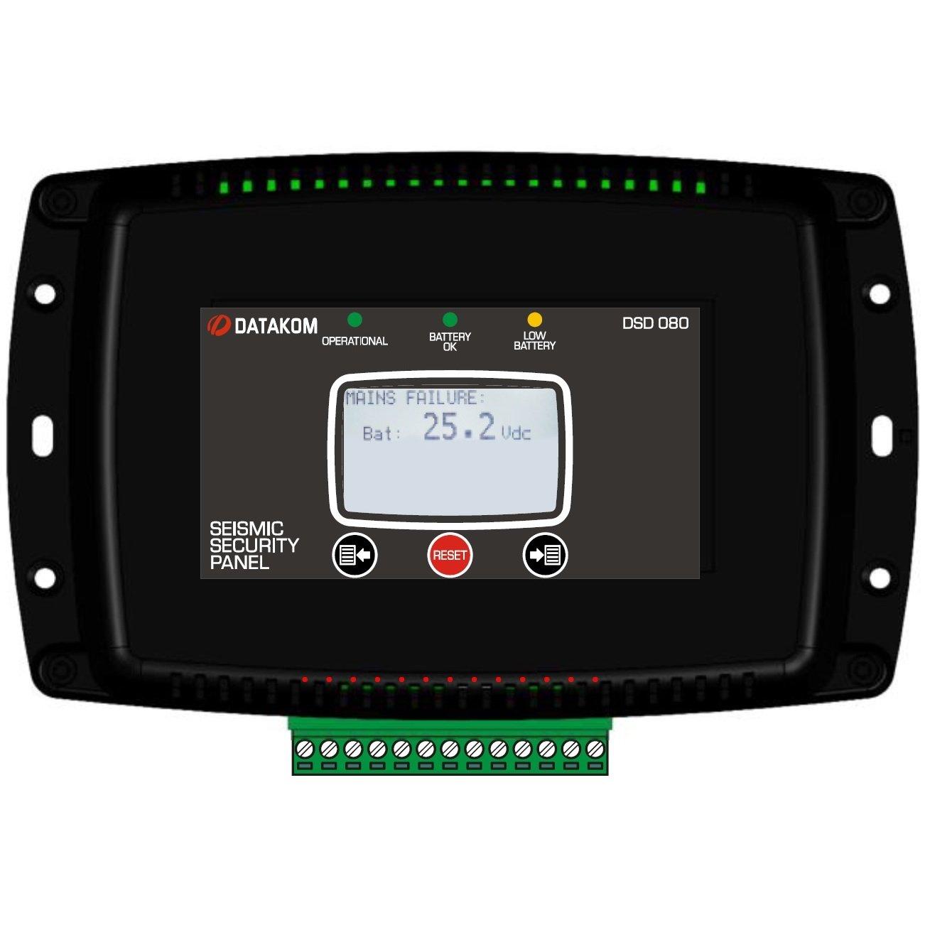 DATAKOM DSD-080 Panel terremoto de parada con la bateria ...