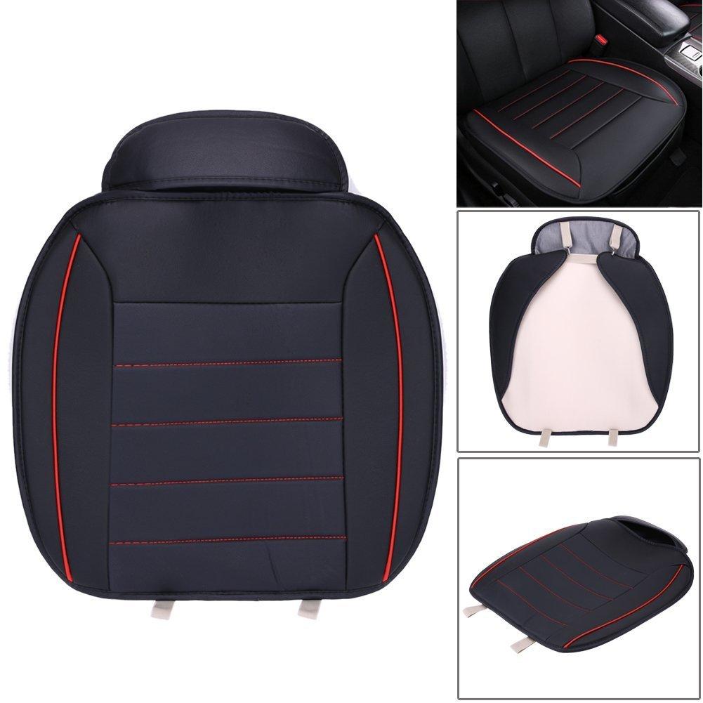 HCMAX Lusso Morbido Coprisedile per Auto Cuscino Tampone Stuoia Protettore per Forniture Automatiche per Sedan Hatchback SUV 1 Pacco Coprisedile Anteriore