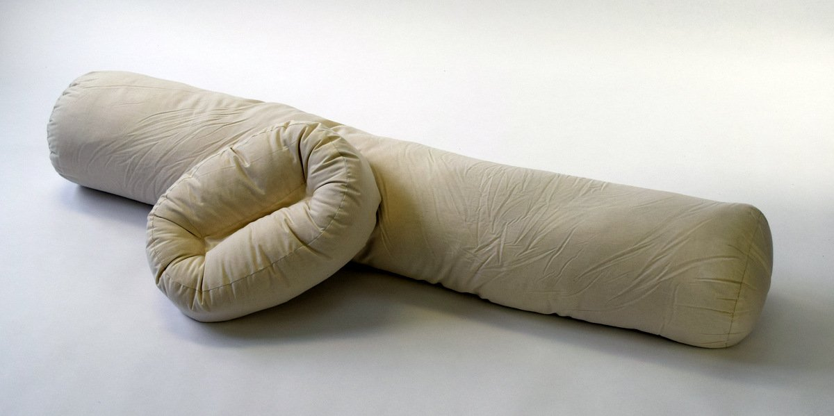 The Original All-natural Curvy Pillow Sleep Set for Total Body Support--patent Pending (White, Small)