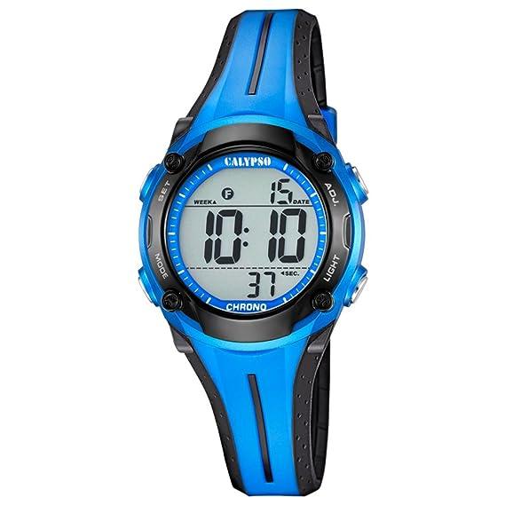 Calypso Reloj de pulsera para mujer cuarzo reloj reloj de plástico con Poliuretano banda de alarma Cronógrafo digital todos los modelos k5682, variante: 04: ...
