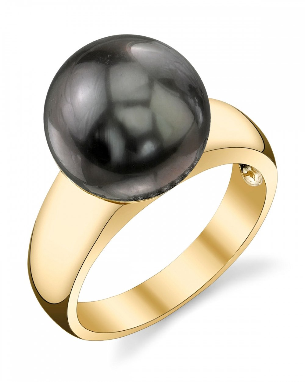 10mm Tahitian South Sea Cultured Pearl Abigail Ring in 14K Gold