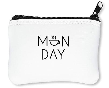 Ordinary Monday Casual Billetera con Cremallera Monedero ...