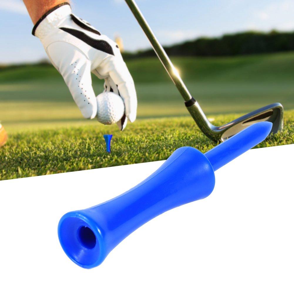 Step Down Golf Tees 100pcs Plastic Blue 68mm Golf Tees Step Down Golf Accessory Tool For Golf Sports by Yosoo (Image #6)