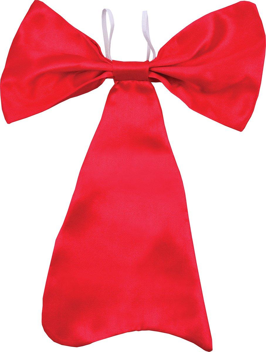Men Adult Fancy Dress Party Accessory Cufflink Hankie Wedding Bowtie Large Red