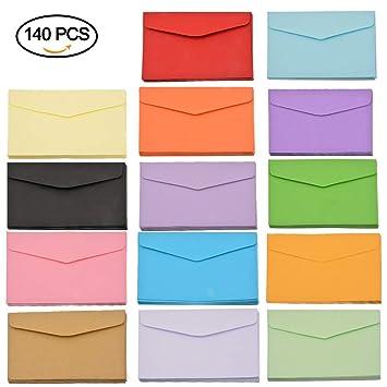 meinebe auty 140 pieza Mini sobres Multicolor sobre Cartas ...