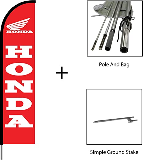 SWOOPER FEATHER FLAG KITS WITH HARDWARE 2 HONDA TWO
