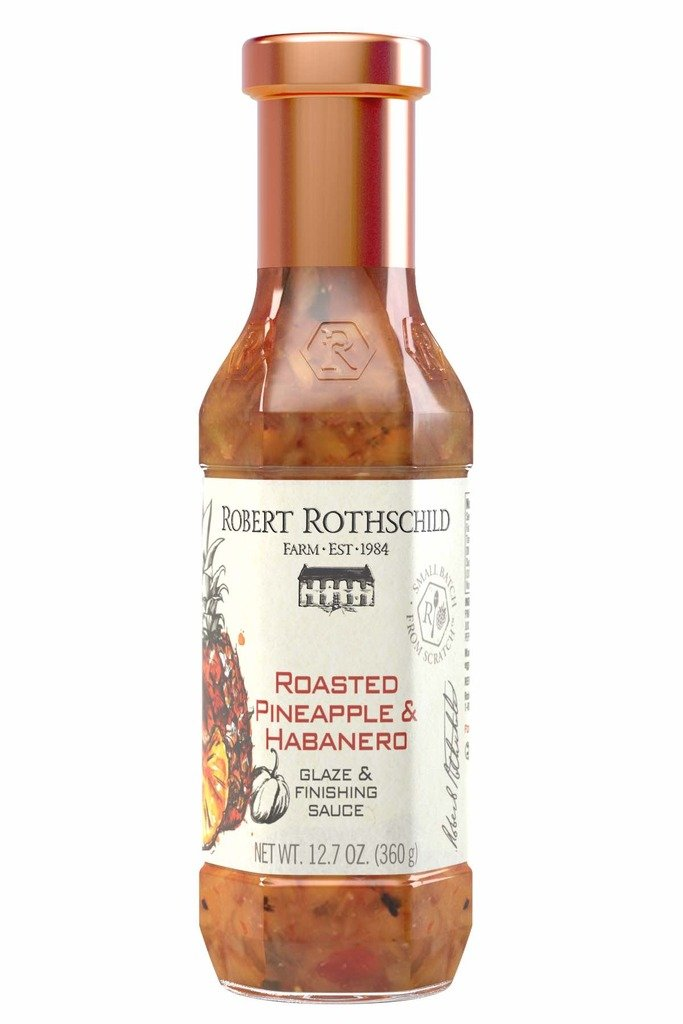 Robert Rothschild Farm Roasted Pineapple & Habanero Sauce (12.7oz) - Glaze & Finishing Sauce - Sweet & Spicy Sauce for Chicken, Fish, Pork, Shrimp - All Natural, Gluten Free and Certified Kosher