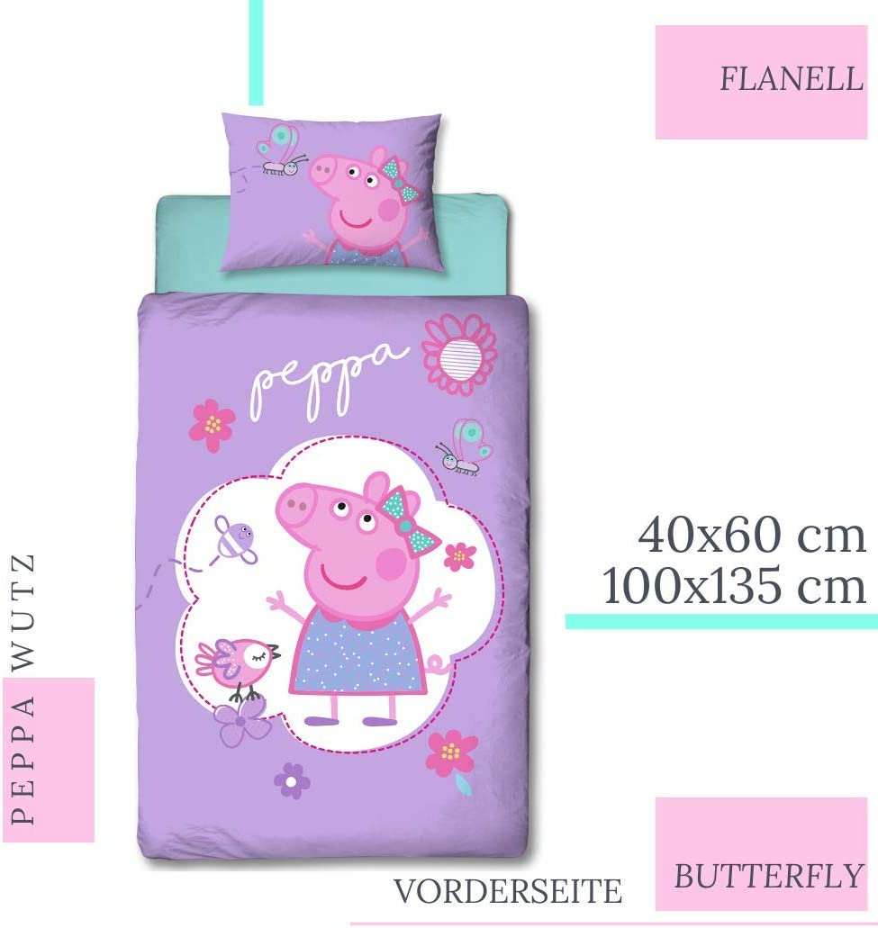 Character World Peppa - Juego de cama infantil (franela, funda de ...