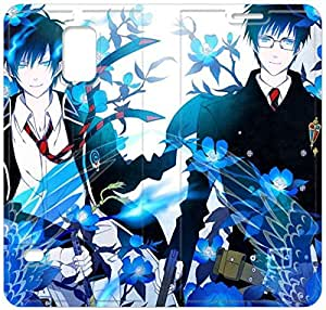 Screen Protection Phone Cases Blue Exorcist-13 iPhone Samsung Galaxy S5 Leather Flip Case
