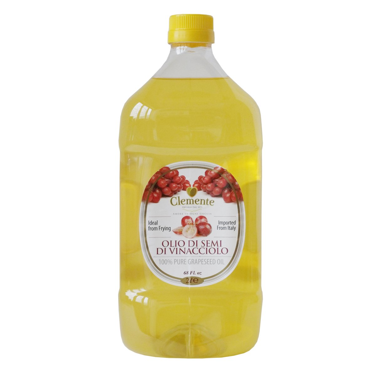 Clemente Italian 100% Pure Grapeseed Oil 68 fl oz by Clemente
