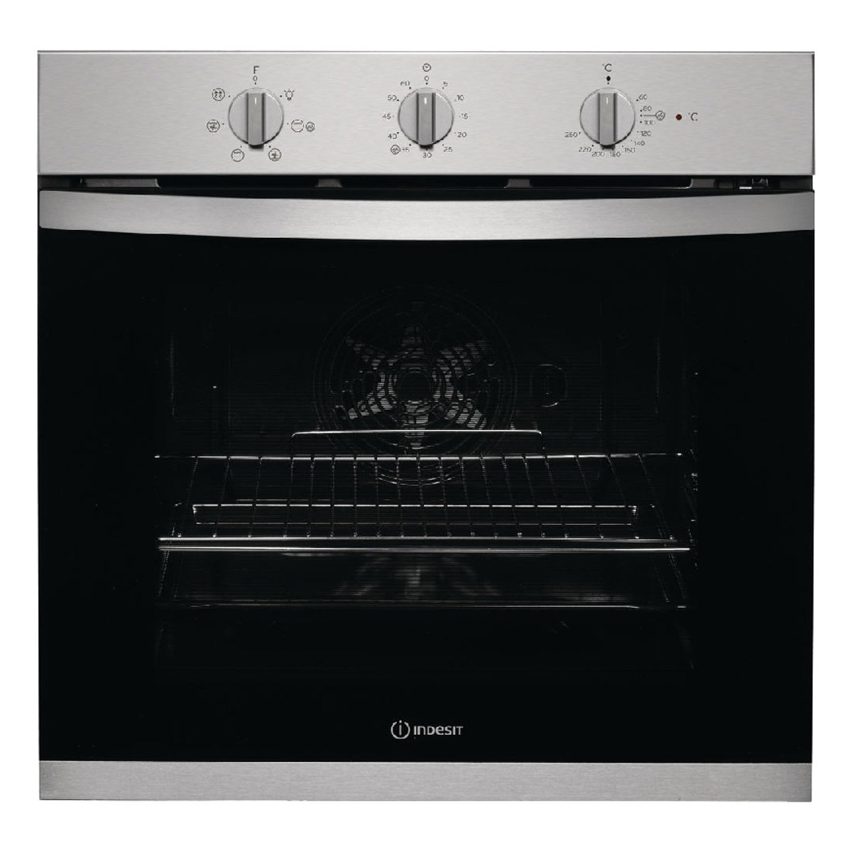 Indesit KFW3543HIXUK Single oven MF m.minder Stainless Steel