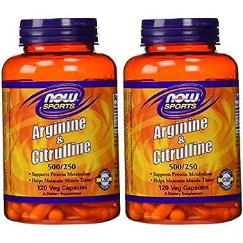 Amazon.com: Arginine & Citrulline 500/250mg - 120 Capsules