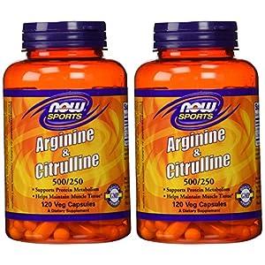 NOW Foods Arginine & Citrulline 500/250