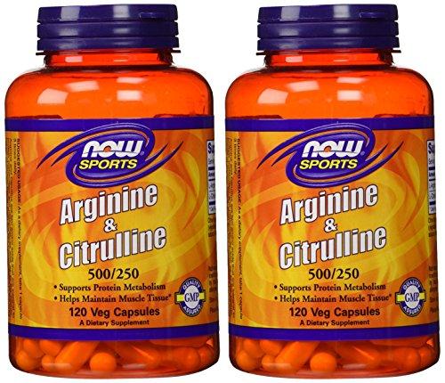 Arginine Citrulline 500 250mg – 120 Capsules 2 Pack
