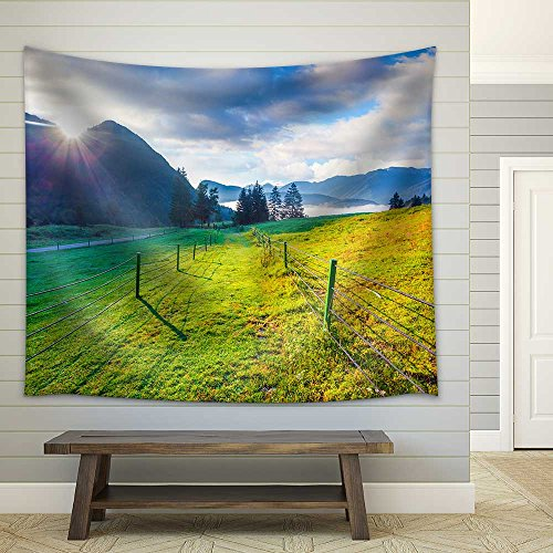 Colorful Summer Morning in The Triglav National Park Slovenia Julian Alps Europe Fabric Wall
