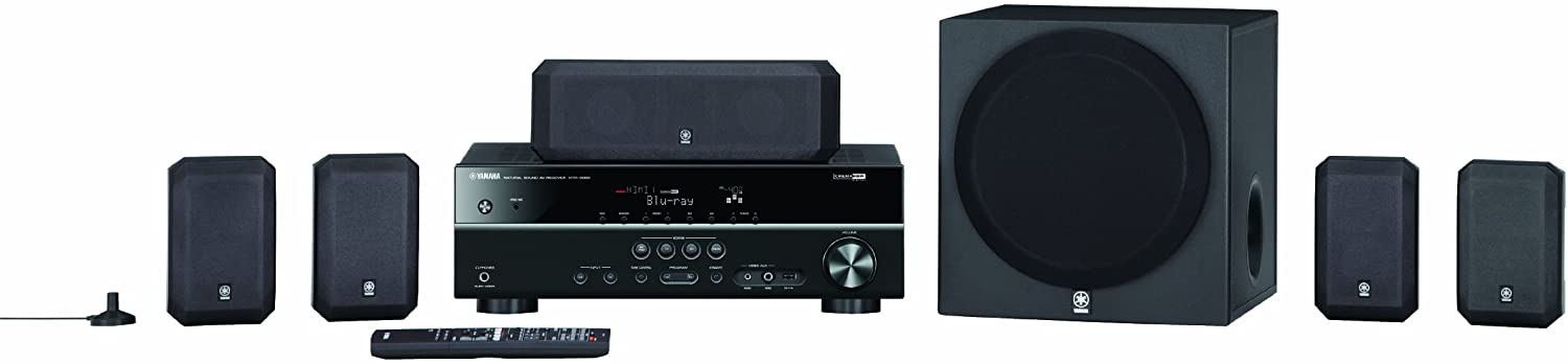 Yamaha YHT-399UBL 5.1 Channel Home Theater in a Box System