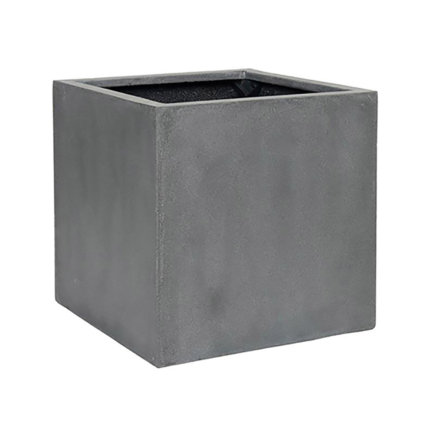 Pottery Pots Elegant Fiberstone Cube Planter Grey Pot - 16x16x16 - Indoor Outdoor By Pottery Pots by Pottery Pots