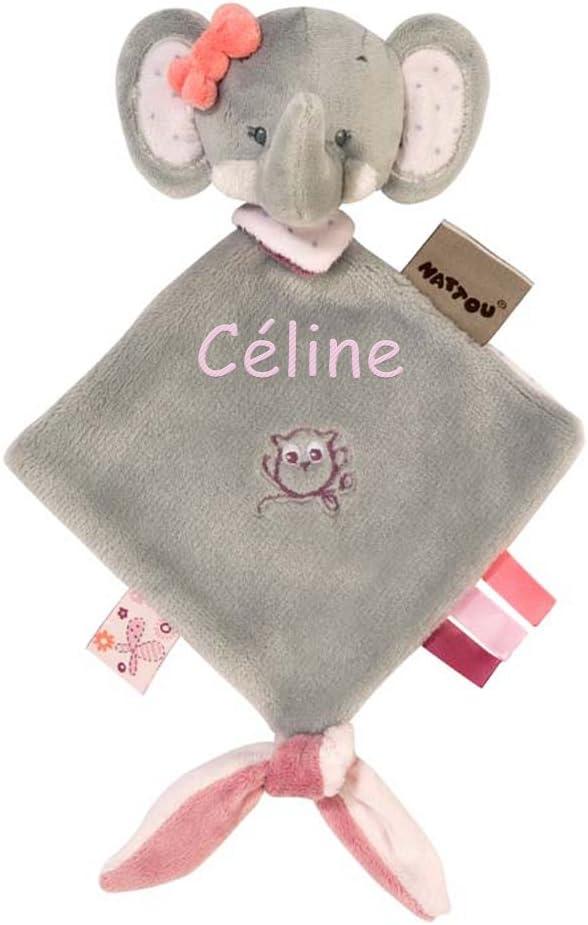 Nattou Mini Doudou Fille 25 x 20 cm rose Ad/èle l/él/éphant
