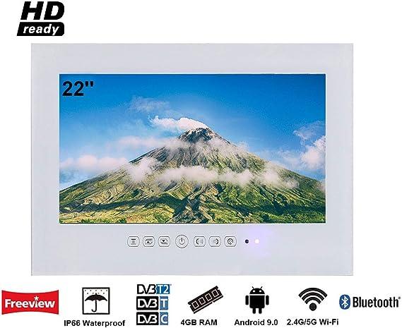 Soulaca innovativtv LED Andriod Smart TV Baño Blanco Frontal 22 ...