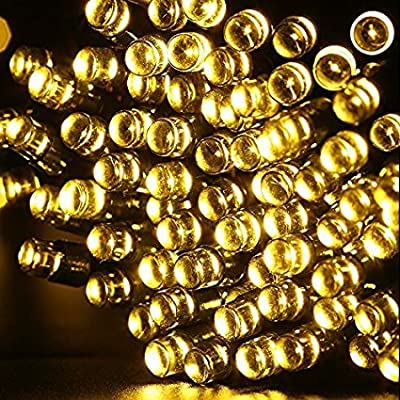 Solar String Lights,GDEALER 72ft 200 LED 8 Modes Warm White Solar Powered Waterproof Starry Fairy Outdoor String Lights Christmas Decoration Lights for Garden Path, Party, Bedroom Decoration