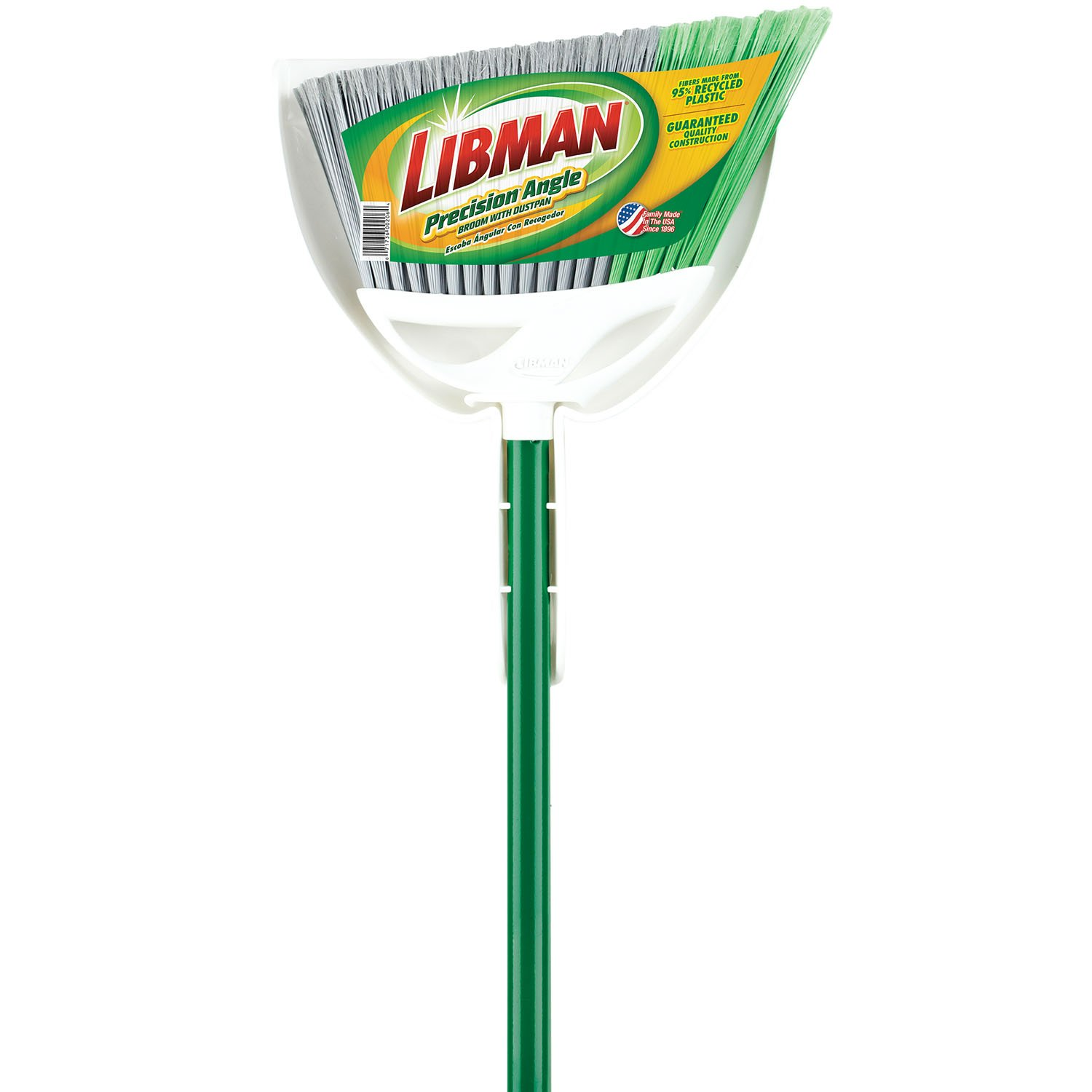 Libman 206 Precision Angle Broom with Dustpan by Libman