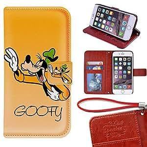 Caso Monedero iPhone 6S Plus Funda [5.5 pulgadas], Twodee - Personajes Disney Cartoon Goofy premium PU Case Funda carpeta del tirón del caso del soporte de la cubierta Funda para iPhone 6S Plus con ranuras para tarjetas
