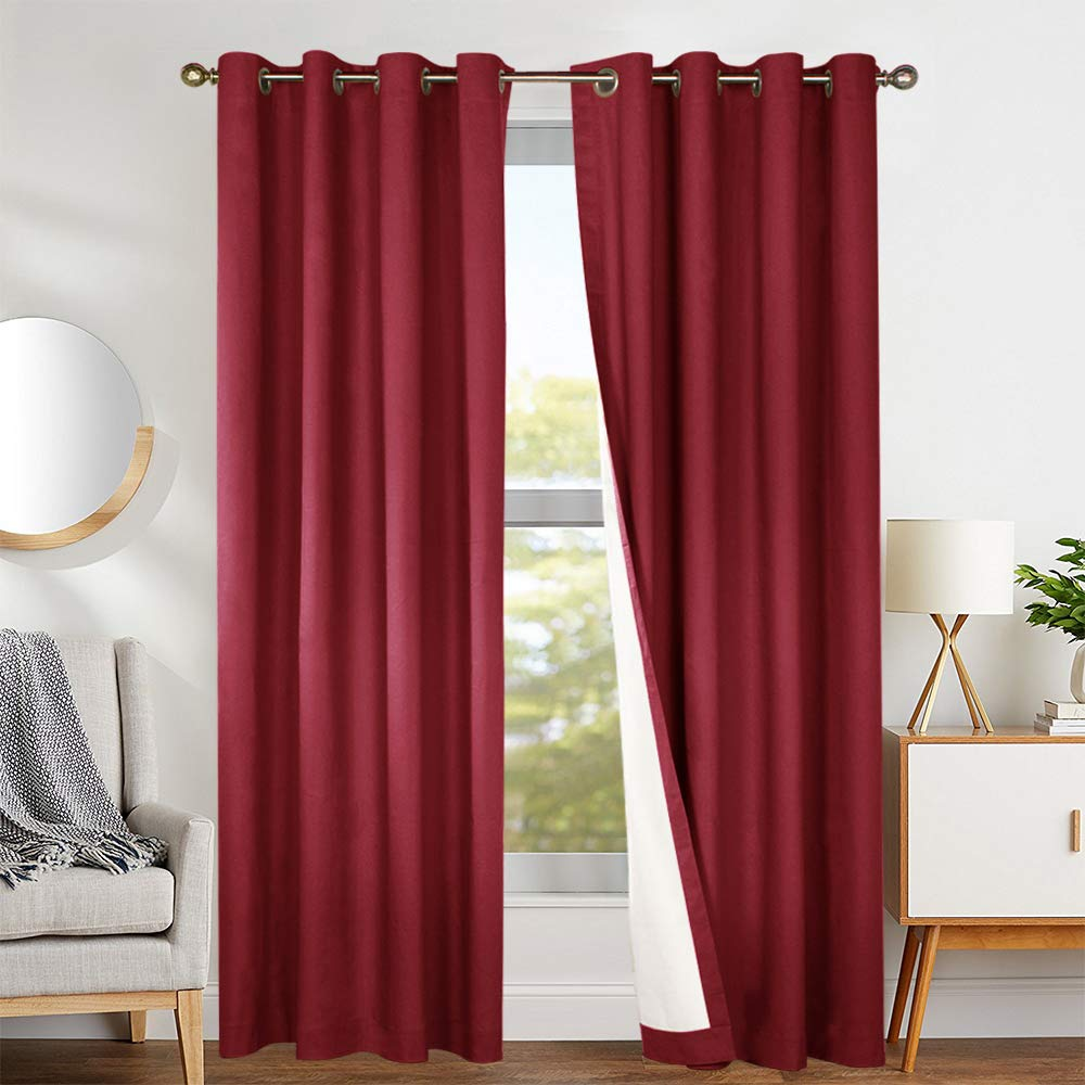jinchan Thermal Blackout Curtains for