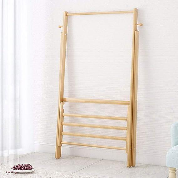 Amazon.com: Percha plegable para el suelo, para dormitorio ...