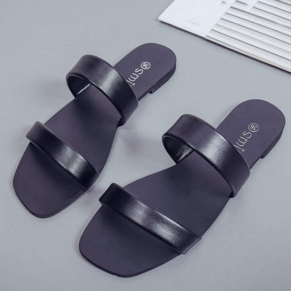 FreshZone Women Summer Bohemia Flower Beads Flip-Flop Shoes Flat Sandals  Flop Flip Slide Shoes Athletic Sport Sandals & Slides