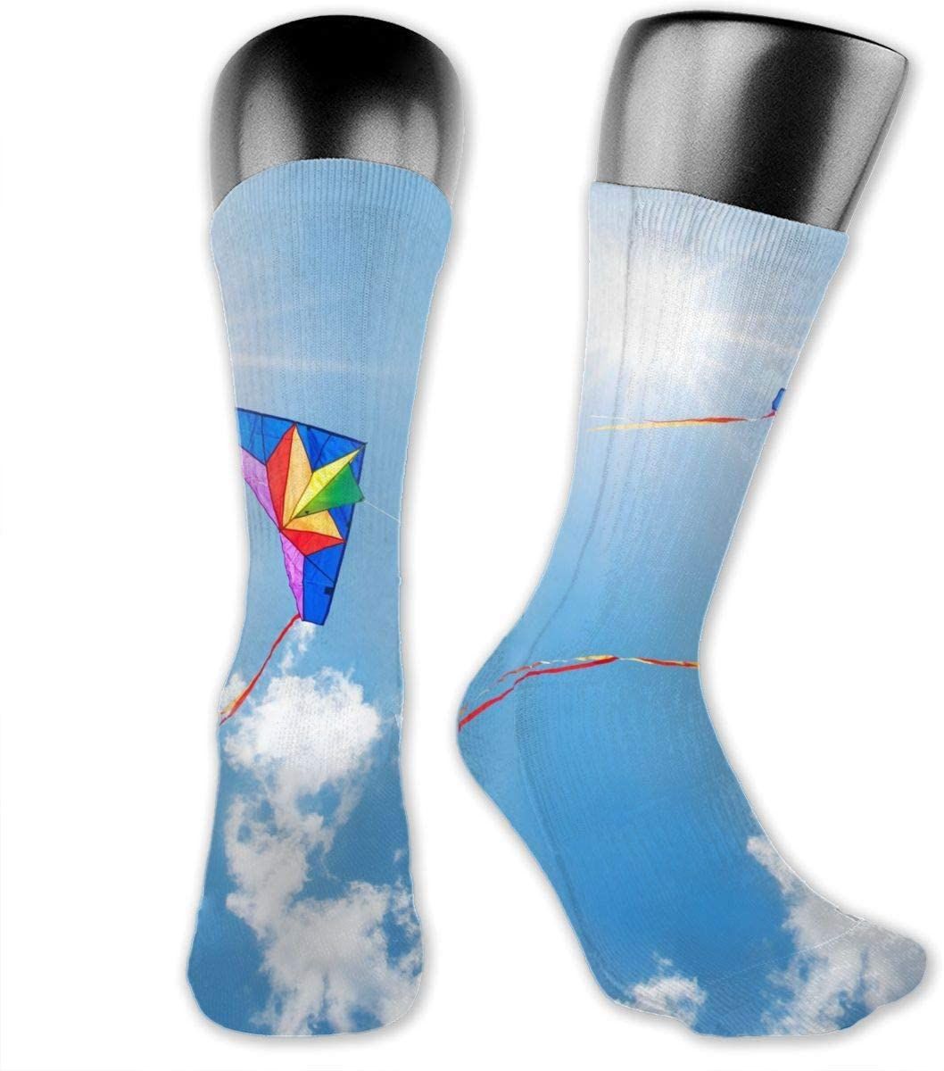 OLGCZM Colorful Kite Men Womens Thin High Ankle Casual Socks Fit Outdoor Hiking Trail