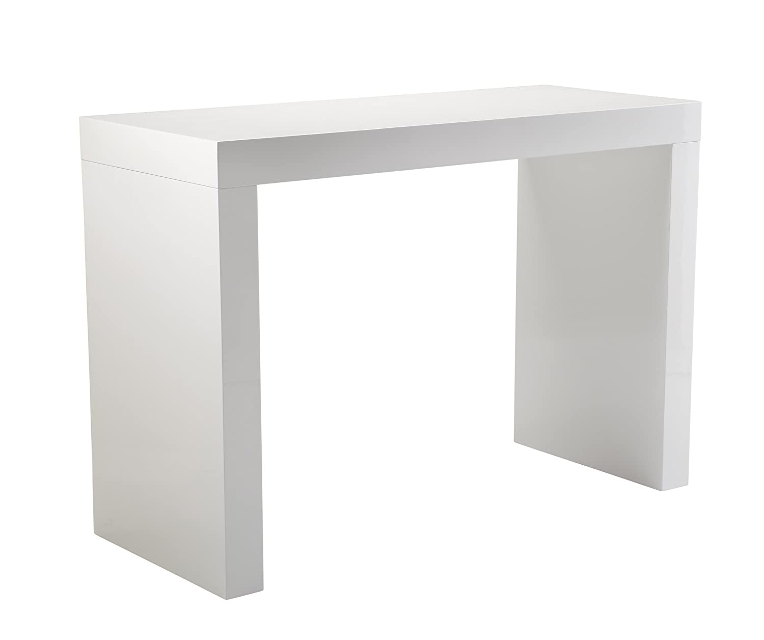 Amazon.com: Sunpan Modern Faro C Shape Bar Table, White: Kitchen U0026 Dining