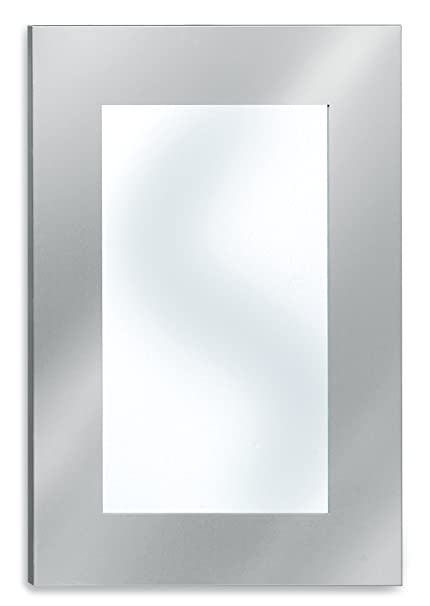 Amazon.com: Blomus Stainless Steel Large Mirror Wide Frame: Home ...