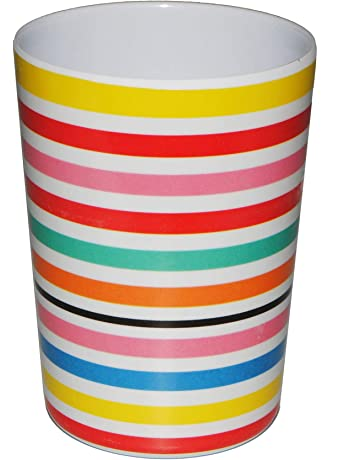 alles-meine.de GmbH 1 St/ück /_ 3 in 1 Bunte Streifen // gestreift 300 ml Trinkglas aus Melamin .. incl Trinkbecher // Zahnputzbecher // Malbecher mehrweg Becher Name