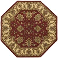 Traditions Agra Octagon Rug, 6-Feet by 6-Feet, Saffron