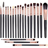 UNIMEIX Eye Makeup Brushes Set Eyeliner Eyeshadow Blending Brushes ( 20 Pieces Coffee)