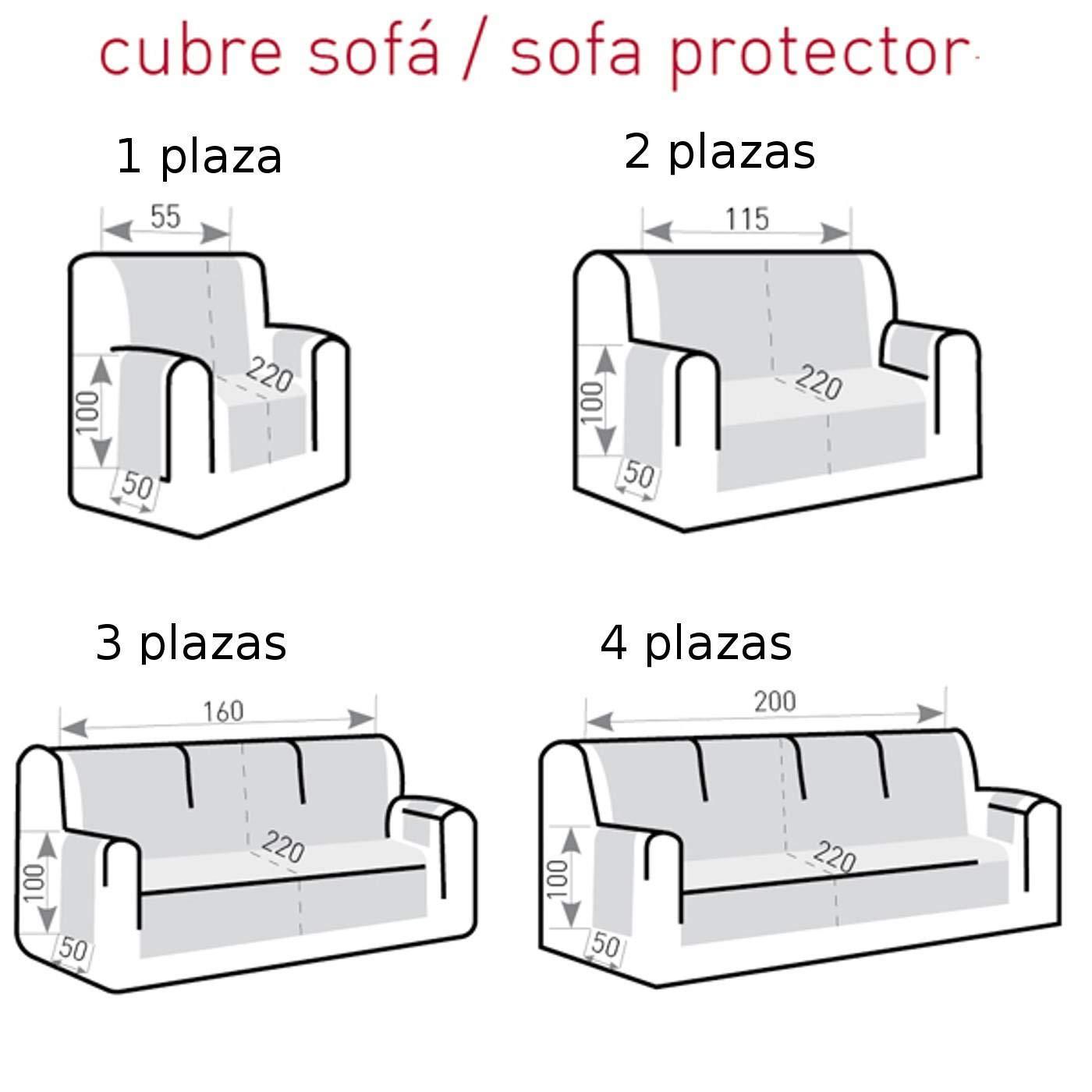 Cubre Sofá Universal Modelo Misuri, Color Marfil-1, Medida 3 Plazas – 160cm