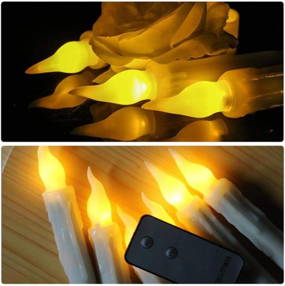 No/ël D/écembre BTKNOO Lot de 6//12 Bougies LED avec t/él/écommande Conique Bougies Bougies Bougies LED pour Nouvel an Mariage