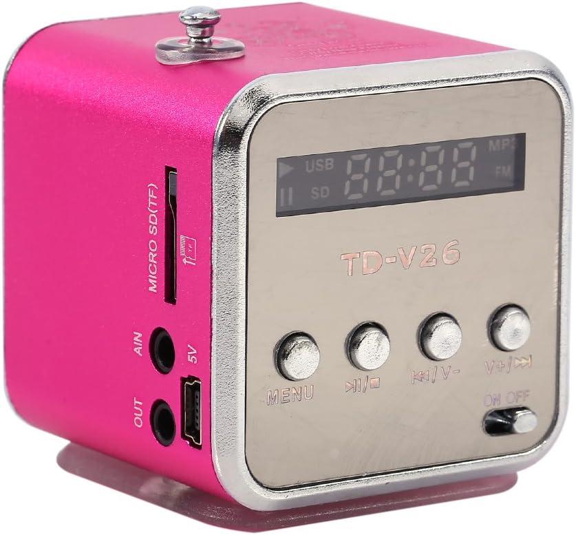 Zerone - Altavoz Digital Mini Altavoz Reproductor de música FM Radio estéreo MP3 MP4 Reproductor de música PC Moderno Soporte Tarjeta TF USB Disco FM