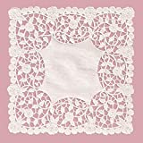 8 x 8 Inch White Square Paper Doilies 50 Count