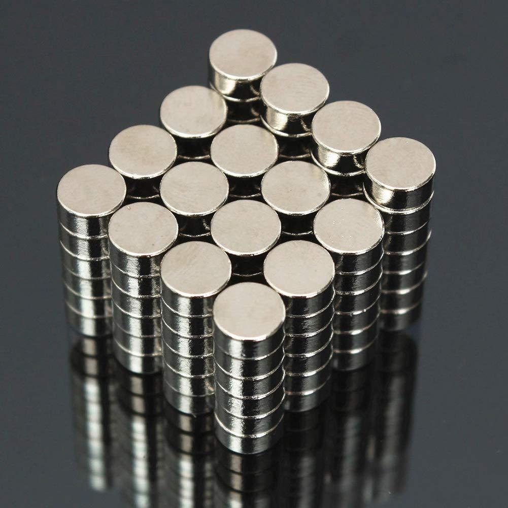 N50 Neodym-Magnet rund super stark HuhuswwBin Neodym-Magnete Hobby 6 x 3 mm magnetisch Handwerk Neodym-Magnete f/ür Kunst seltene Erde Zuhause und B/üro Multi Zylinderform